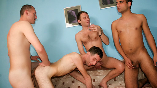 Intoxicated gays Groupsex